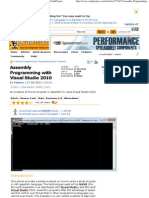 Assembly Programming With Visual Studio 2010 - CodeProject
