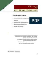 SESI7-8 KEPUTUSAN PENDANAAN