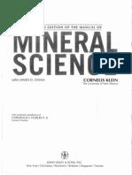 Mineral Science Cornelis Klein