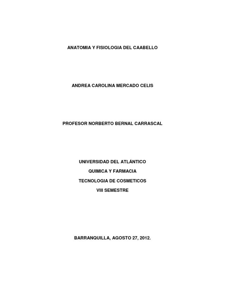 Anatomia y Fisiologia Del Cabello