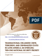 Transnational Organized Crime, Terrorism, and Criminalized States in Latin America