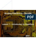 Small Signal Amplifiers - Lesson 1 - Intro to Amplifiers