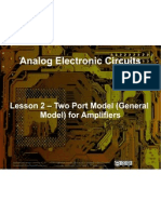 Small Signal Amplifiers - Lesson 2 - Two Port Model