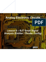 Small Signal Amplifiers - Lesson 6 - BJT Small Signal Analysis 2