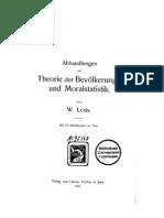 Abhandlungen zur Theorie der Bevölkerungs- und Moralstatistik
