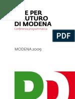 Le idee per il futuro di Modena - PD Modena