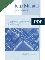 Solution Manual - Electronic Circuit Analysis and Design Neamen