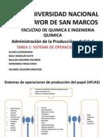 APC - ADMINISTRACION DE LA PRODUCIOON Y CALIDAD