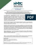 MMTC Commends FCC - Incentive Auctions 092712