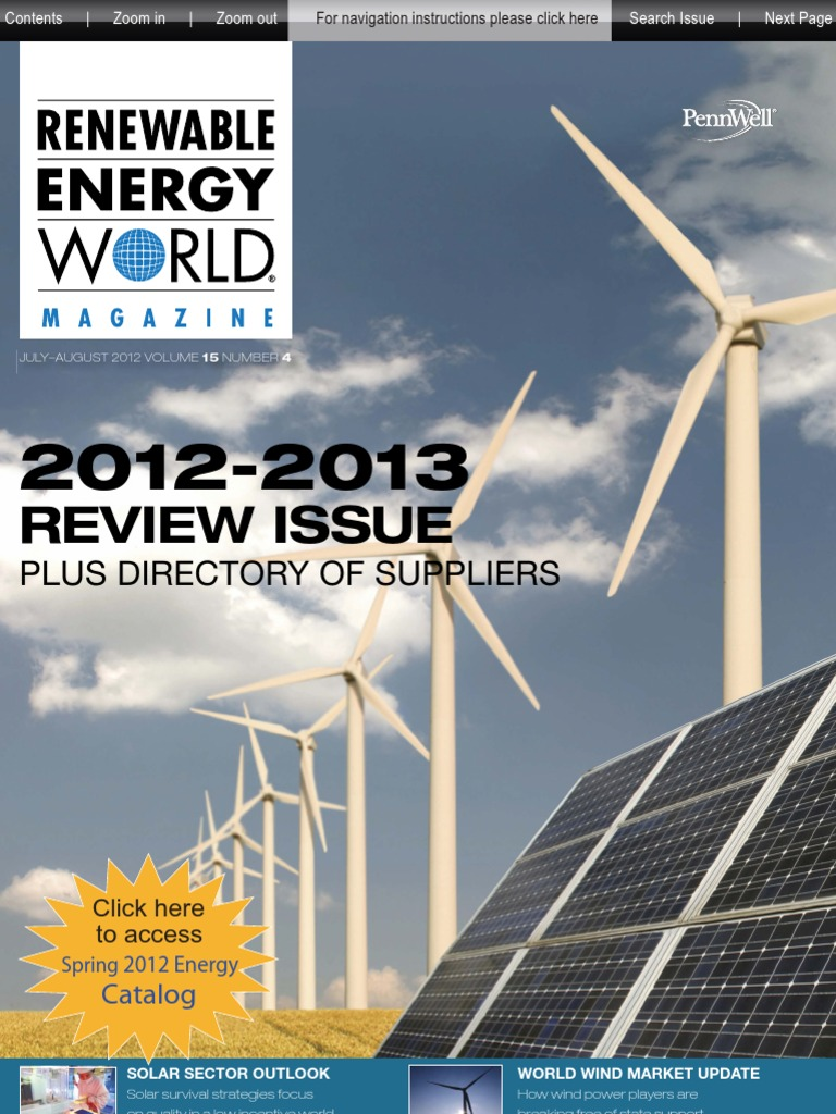 Renewable Energy World July August 2012 Wind Power Line Diagram 4100 Watt Pv System Using Enphase M 210 Inverters Http