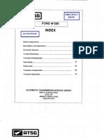 Manual de Reparacion Para Transmision Automatica Modelo 4F20E