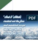 Purpose of Creation of This World