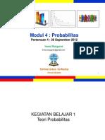 Pengantar Statistik Sosial Pertemuan4 Modul4 (20120930)