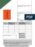 Fax Anfrage Bestellung Pendelschienen