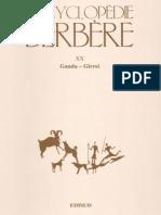 Encyclopédie Berbère Volume 20