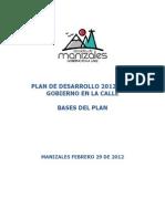 Plan Desarrollo Manizales 2012-2015