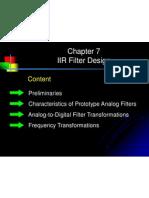 Chap7-IIR Filter Design