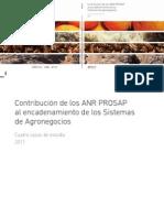 Contribucion de Los ANR PROSAP Al Encadenamiento de Los Sistemas de Agronegocios