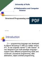 Structured Programming C++