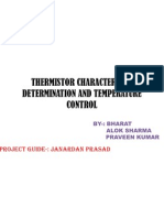 Thermistor Characteristic Determination and Temperature Control