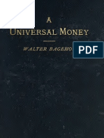 Walter Bagehot, A Practical Plan for Assimilating the English and American Money, As a Step Towards a Universal Money