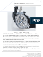 Press release by Orient Watch Company