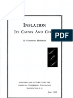 Gottfried Haberler, Inflation, Its Cause and Cure