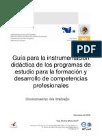 Guía para Instrumentación didáctica