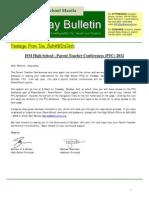 HS Friday Bulletin 09-28
