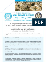 The Ninth Annual WNU Summer Institute.