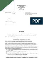 Sample Pretrial Brief