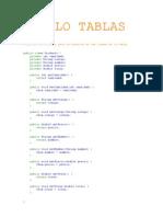Modelo Tablas Java