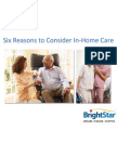 Six Reasons to Consider In-Home Care