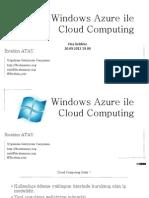 Windows Azure ile Cloud Computing Uygulamaları