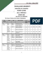 M.sc. Physics Syllabus Thiruuvalluvar university