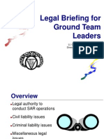Ground Team Leader Legal Issues