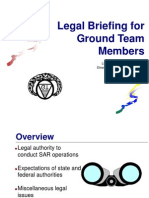 Ground Team Member Legal Issues