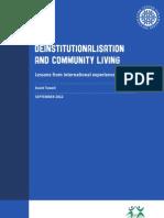 Deinstitutionalisation and Community Living