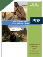 Mict's Newsletter First Quarter 2012