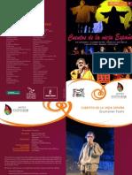 2012 folleto ESCARRAMÁN TEATRO- CUENTOS DE LA VIEJA ESPAÑA