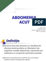 abdomenul acut
