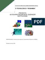 PROYECTO DE AUTOCAPACITACIÓN EN EL QUEHACER INSTITUCIONAL - copia