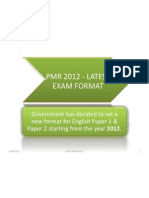 Pmr 2012 - Latest Exam Format p1 & p2