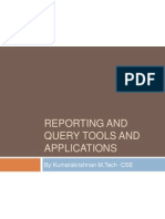 Reporting and Query Tools and Applications
