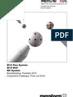Catalologo M12 Plus - M12 Midi - M6 System