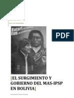 El surgimiento y gobierno del MAS IPSP en Bolivia