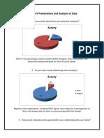 Presentation and Analysis of Data