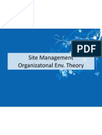 Site Management - Environmental and Behavior Theory