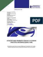 2012 Istrazivanje Slobode Pristupa Informacijama