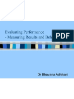 5 Evaluating Performance- Measuring Results and Behaviour